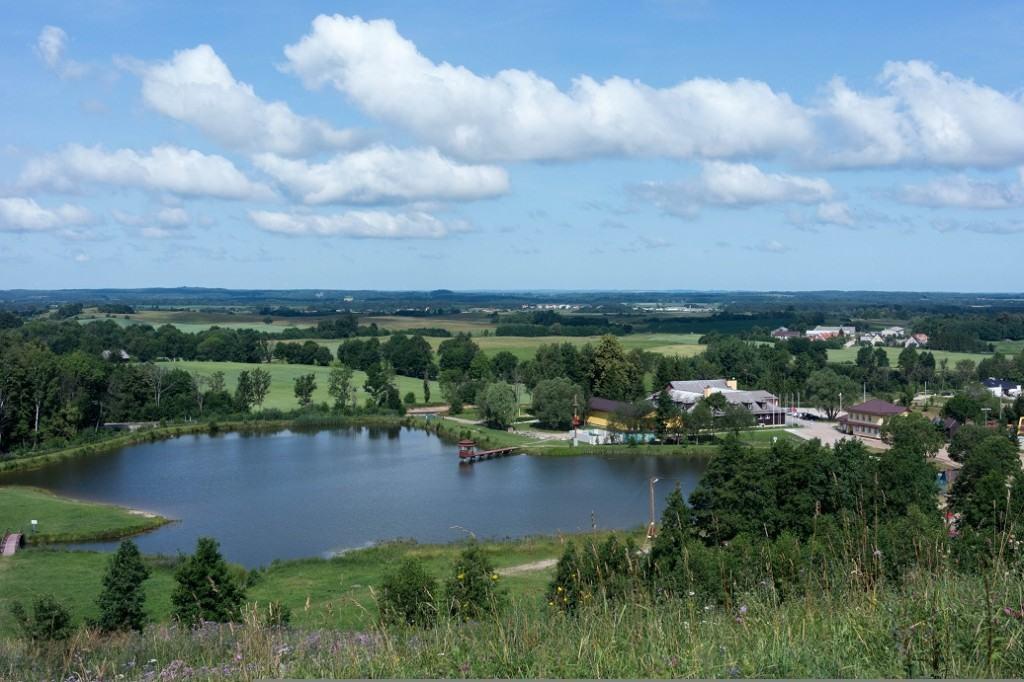 widok z pięknej góry Gołdap